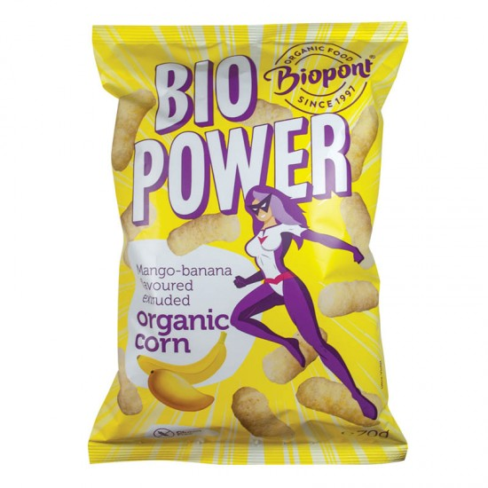 Bio Power - porumb organic extrudat gust mango-banana 70 g