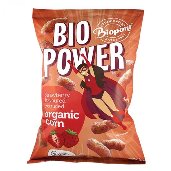 Bio Power - porumb organic extrudat gust capsuni 70 g