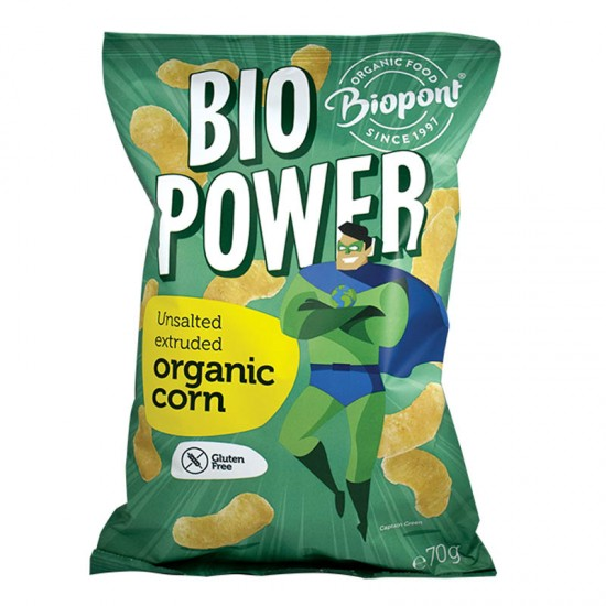 Bio Power - pufuleti porumb organic extrudat nesarat 70 g