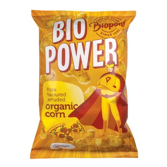Bio Power - pufuleti porumb organic extrudat gust pizza 70 g
