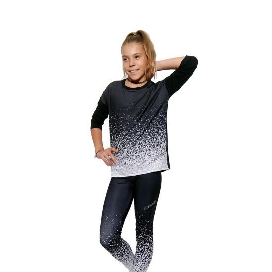 Bluza fitness Duckadam Black & White - fete