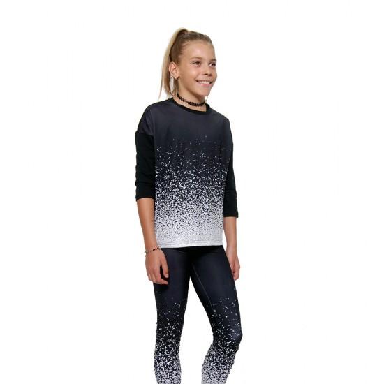 Colanti fitness Duckadam Black & White - fete