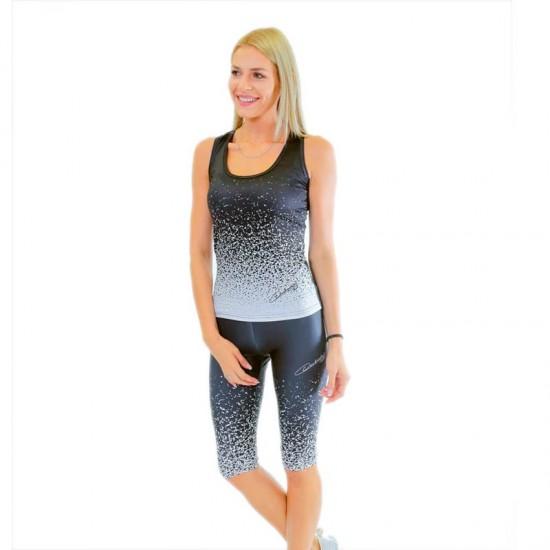 Colanti fitness 3/4 Duckadam Black & White - femei