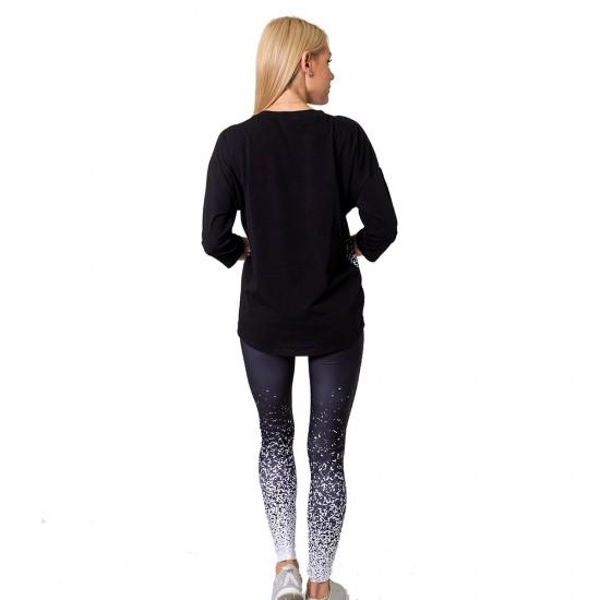 Bluza fitness Duckadam Black & White - femei