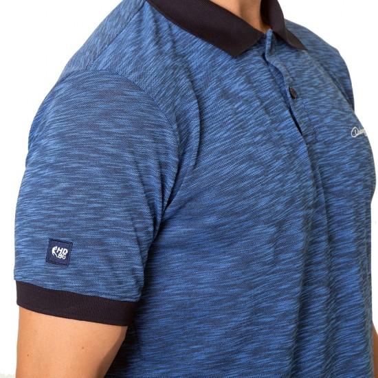 Tricou guler Duckadam bleumarin - barbati